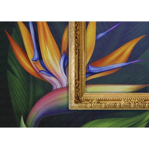 Vinilo pared textura lienzo