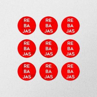 Etiquetas adhesivas circulares